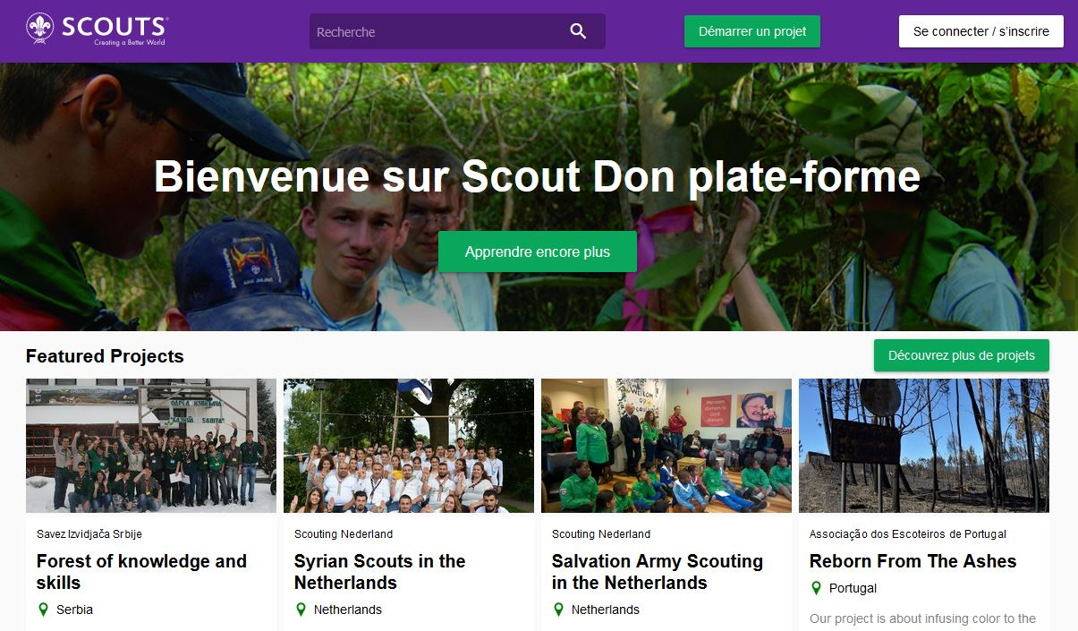 Scout donation